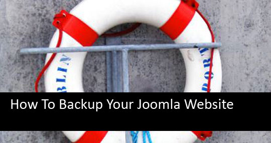 How To Backup Joomla Website